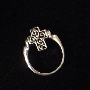 Jewelry - Sterling/MOP Reversible Cross ✝️ Ring